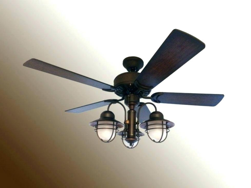 Outdoor Ceiling Fans With Pull Chain Inside Fashionable Outdoor Fan With Light Large Size Of Nautical Ceiling Fan Light Kit (View 12 of 15)