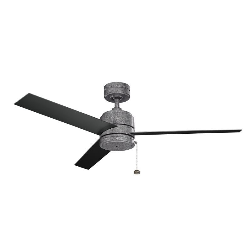 "Outdoor Ceiling Fans With Pull Chains Regarding Current Kichler 339529 52"" Outdoor Ceiling Fan With Blades Downrod And Pull (Gallery 14 of 15)"