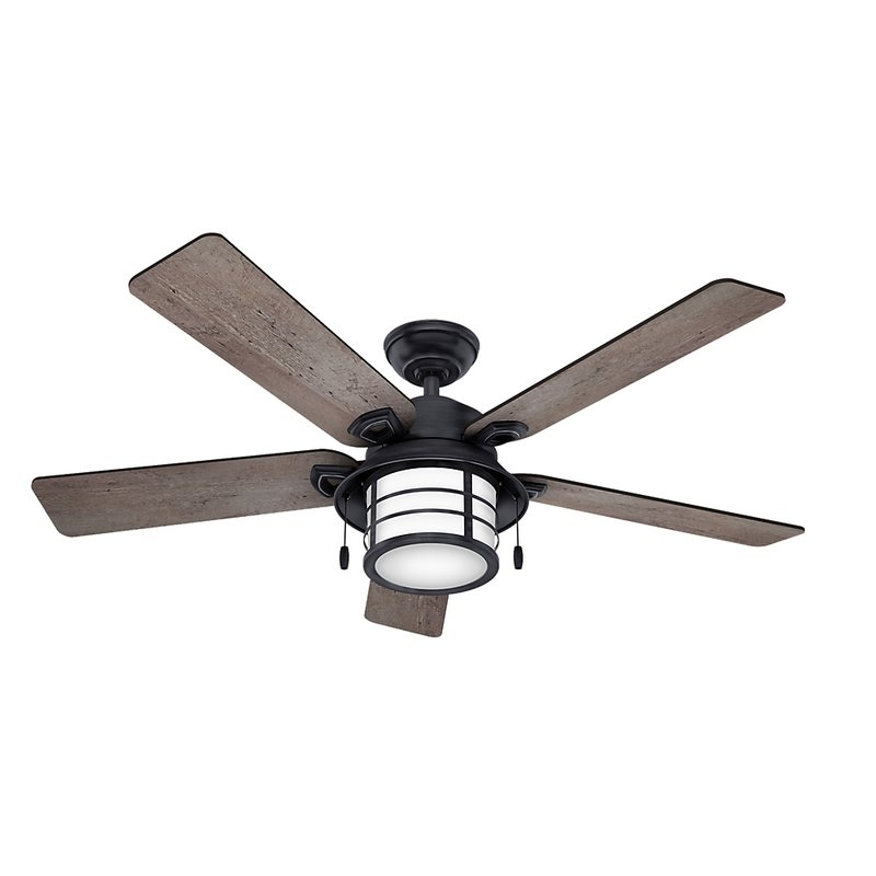 "Outdoor Ceiling Fans With Removable Blades Intended For Fashionable Hunter Fan 54"" Key Biscayne 5 Blade Outdoor Ceiling Fan & Reviews (View 10 of 15)"