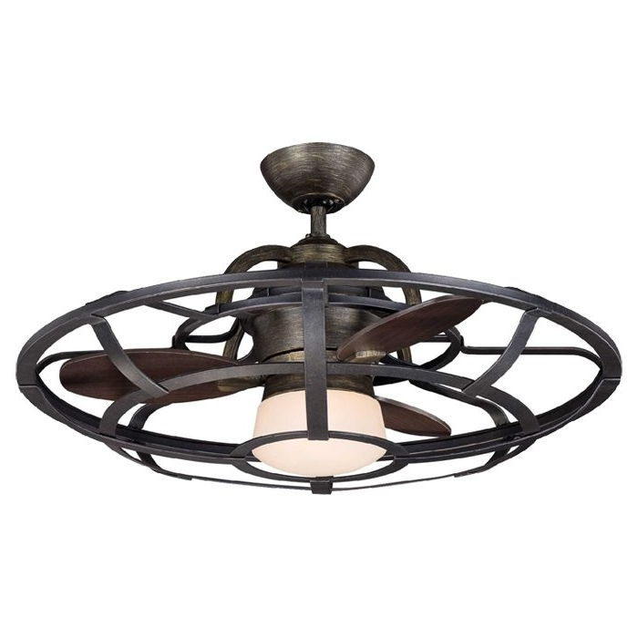 "Outdoor Ceiling Fans With Speakers Throughout Most Recently Released 26"" Wilburton 3 Blade Outdoor Ceiling Fan With Remote & Reviews (Gallery 13 of 15)"