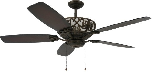 "Outdoor Ceiling Fans With Uplights Pertaining To Well Liked Troposair Excalibur 60"" Rubbed Bronze Ceiling Fan With Uplight (View 6 of 15)"