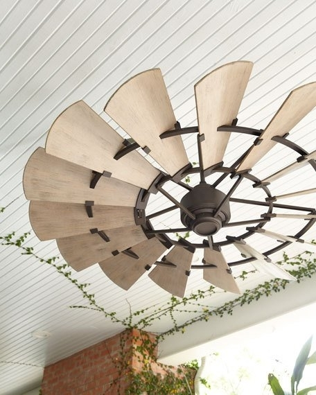 Outdoor Ceiling Fans Within Fashionable Windmill Bronze Outdoor Ceiling Fan (View 6 of 15)