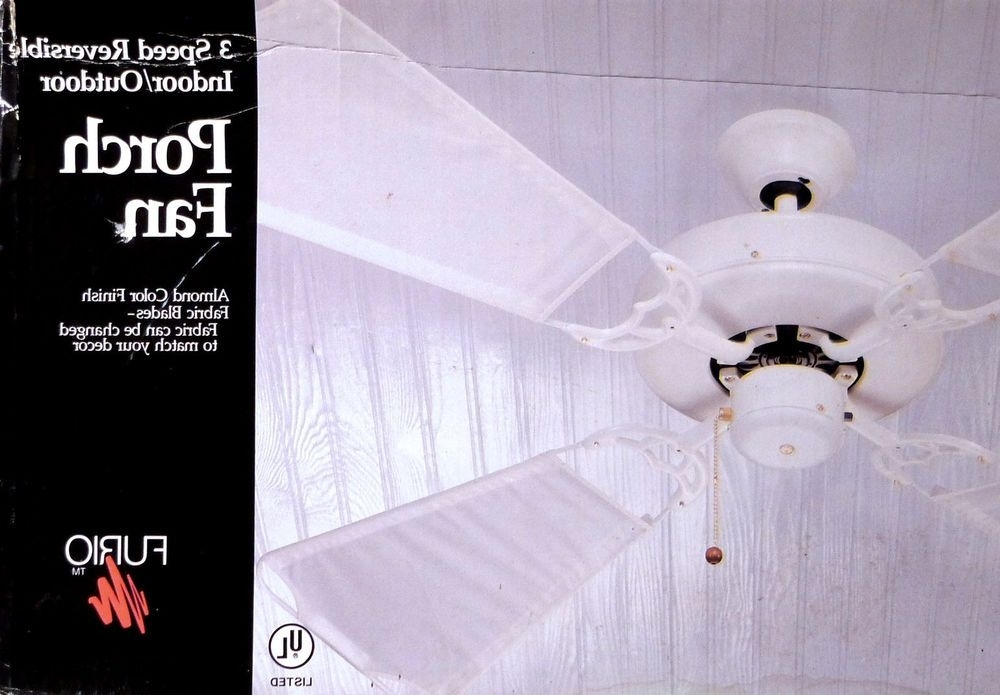 Outdoor Electric Ceiling Fans Regarding 2017 Furio 1980S Vintage Ceiling Fan Exterior Outdoor Porch New Nib (View 9 of 15)