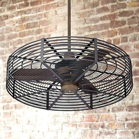 Outdoor Fan With Light Ceiling Caged Fans Li – Hitmangear (View 8 of 15)