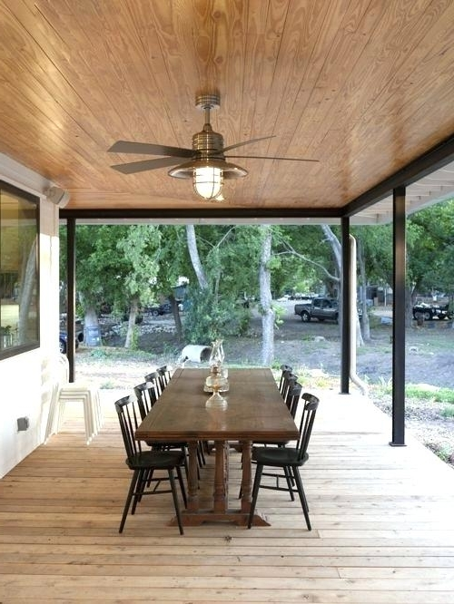 Outdoor Porch Ceiling Fans With Lights Intended For Current Patio Ceiling Fans Patio Ceiling Fan Indoor Outdoor Ceiling Fans (View 7 of 15)