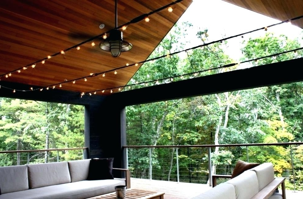Outside Ceiling Fans Rustic Fan Light Create Cool Relaxed Mood Intended For 2018 Outdoor Patio Ceiling Fans With Lights (Gallery 15 of 15)