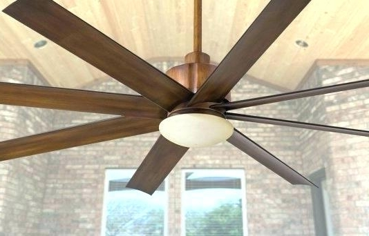 Oversized Outdoor Ceiling Fans With Regard To Preferred Giant Ceiling Fan Oversized Ceiling Fans Best Very Large Ceiling (View 4 of 15)