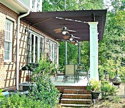 Pergola Fan Ceiling Fans For Outdoors Living In Mosquito Weather Regarding Popular Outdoor Ceiling Fans Under Pergola (View 3 of 15)