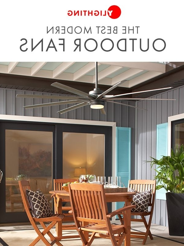 Popular Browse Our Assortment Of Modern Outdoor Ceiling Fans That Combine Inside Contemporary Outdoor Ceiling Fans (View 12 of 15)