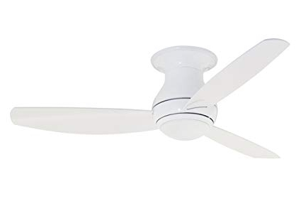 Popular Emerson Ceiling Fans Cf152Ww Curva Sky 52 Inch Modern Low Profile Pertaining To Low Profile Outdoor Ceiling Fans With Lights (View 15 of 15)