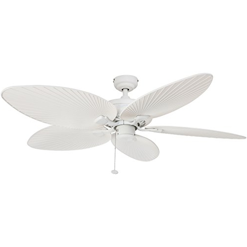 Popular Leaf Blades Outdoor Ceiling Fans With Honeywell Palm Island 52 Inch Tropical Ceiling Fan, Five Palm Leaf (View 11 of 15)