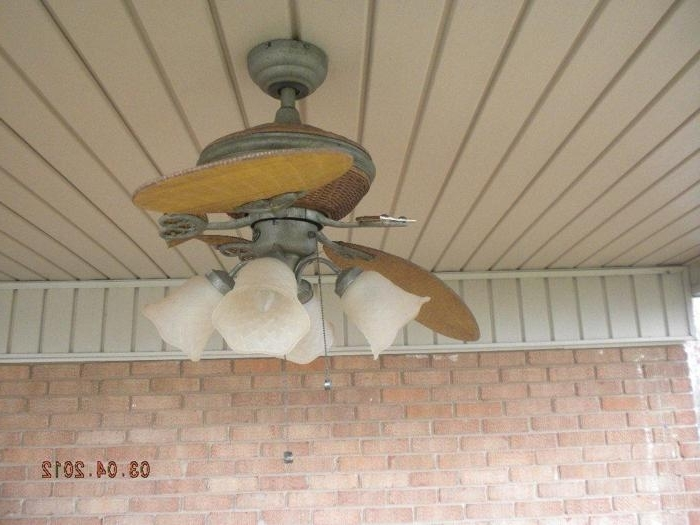 Popular Outdoor Ceiling Fans For Windy Areas Intended For Broken Blades (View 8 of 15)