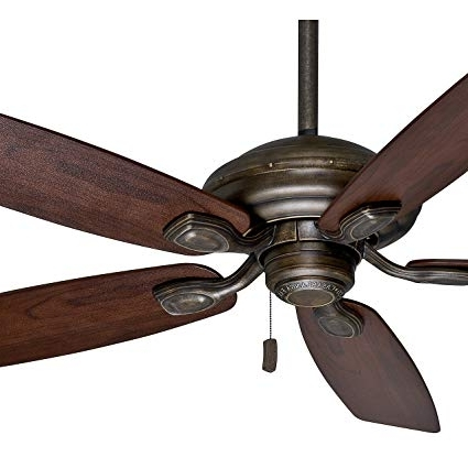 "Popular Outdoor Ceiling Fans With Plastic Blades Regarding Casablanca 52"" Damp Rated Aged Bronze Finish Outdoor Ceiling Fan (View 3 of 15)"