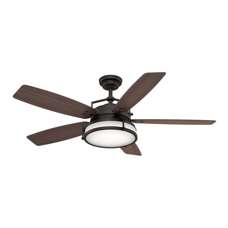 "Popular Outdoor Ceiling Fans With Removable Blades Regarding Casablanca Fan 56"" Caneel Bay 5 Blade Outdoor Ceiling Fan & Reviews (View 12 of 15)"