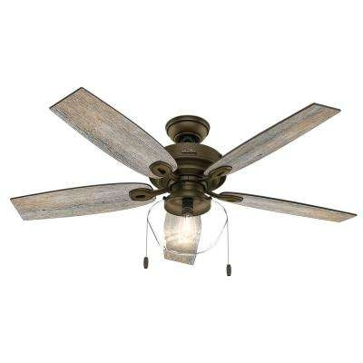 Popular Outdoor Ceiling Fans With Speakers Throughout Southwestern – Outdoor – Ceiling Fans – Lighting – The Home Depot (View 12 of 15)