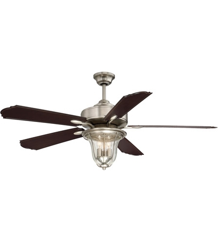 Popular Savoy House 52 135 5Cn Sn Trudy 52 Inch Satin Nickel With Chestnut Regarding Nickel Outdoor Ceiling Fans (View 13 of 15)