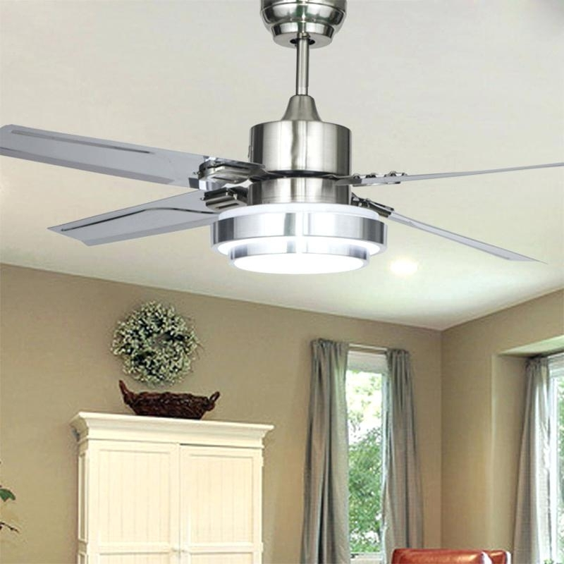 Popular Stainless Steel Ceiling Fan Indoor Stainless Steel Ceiling Fans Pertaining To Stainless Steel Outdoor Ceiling Fans With Light (View 15 of 15)