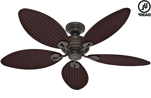 Popular Wicker Outdoor Ceiling Fans With Regard To Hunter Palm Leaf Ceiling Fan – Photos House Interior And Fan (View 3 of 15)