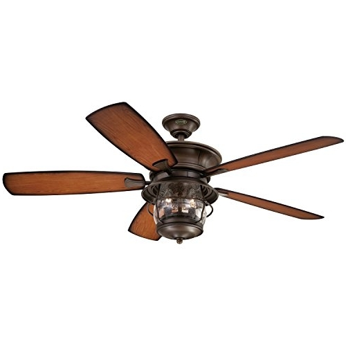 Preferred Copper Outdoor Ceiling Fans Regarding Westinghouse 7800000 Brentford 52 Inch Aged Walnut Indoor/outdoor (View 15 of 15)