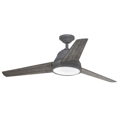 Preferred Kichler Lighting 52 In 3 Blade Weathered Zinc Downrod Mount Indoor Throughout Outdoor Ceiling Fans At Kichler (View 15 of 22)