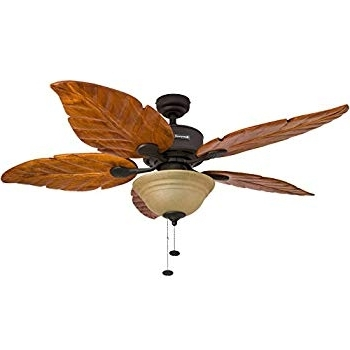 Preferred Leaf Blades Outdoor Ceiling Fans Throughout Leaf Ceiling Fan New Amazon Com Honeywell Sabal Palm 52 Inch (View 12 of 15)