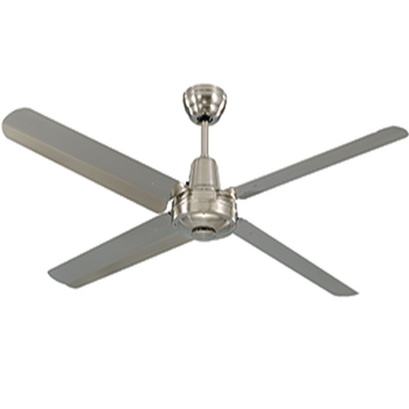 Preferred Stainless Steel Outdoor Ceiling Fans In Ceiling: Extraordinary Stainless Steel Ceiling Fan Brushed Nickel (View 8 of 15)