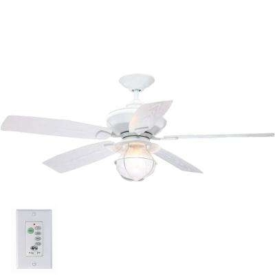 Preferred White Outdoor Ceiling Fans For White – Indoor/outdoor – Hampton Bay – Ceiling Fans – Lighting – The (View 8 of 15)