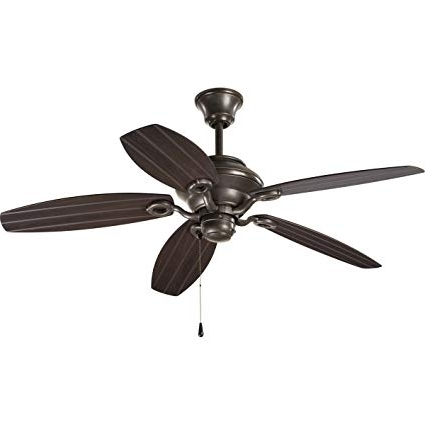 Progress Lighting P2533 20 52 Inch Air Pro Ceiling Fan, Antique With Regard To Newest 20 Inch Outdoor Ceiling Fans With Light (View 12 of 15)