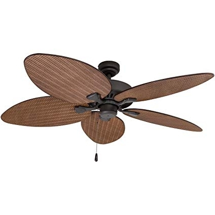 Prominence Home 80013 01 Palm Island Tropical Ceiling Fan, Palm Leaf In Most Recently Released Leaf Blades Outdoor Ceiling Fans (View 3 of 15)