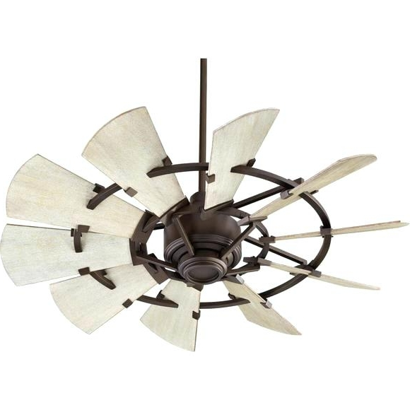 Quorum Ceiling Fans Quorum Windmill Ceiling Fan Oiled Bronze Outdoor With Regard To Most Recently Released Coastal Outdoor Ceiling Fans (Gallery 12 of 15)