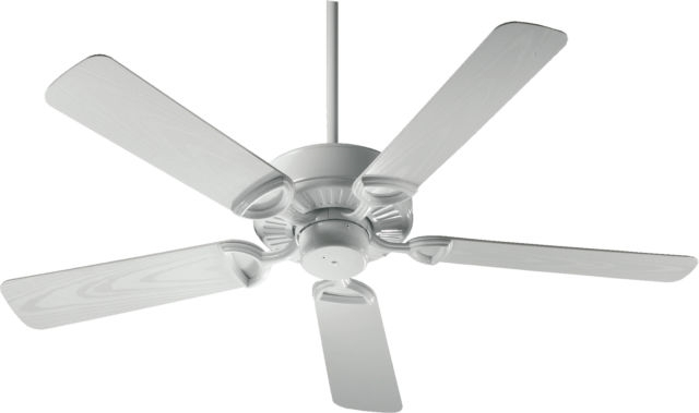 Quorum Eco Energy 52 Inch 5 White Plastic Blade Outdoor Indoor Patio Throughout Preferred Outdoor Ceiling Fans With Plastic Blades (Gallery 15 of 15)