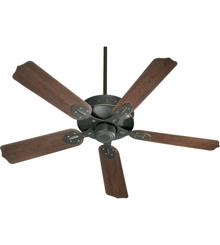 Quorum Outdoor Ceiling Fans Throughout Well Known Quorum 137525 95 Hudson 52 Inch Old World With Walnut Blades Outdoor (Gallery 4 of 15)