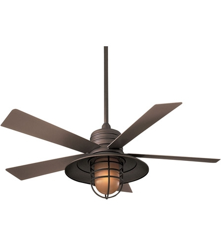 Rainman 54 Inch Oil Rubbed Bronze With Taupe Blades Outdoor Ceiling Pertaining To Recent Vintage Outdoor Ceiling Fans (View 15 of 15)
