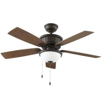 Recent 48 Outdoor Ceiling Fans With Light Kit Within Southwestern – Outdoor – Ceiling Fans – Lighting – The Home Depot (View 13 of 15)