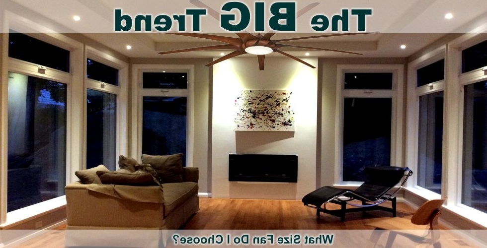 "Recent 72 Inch Outdoor Ceiling Fans In Large Ceiling Fans – Shop Low Rpm Fans With 60"" To 72"" Blade Span (View 14 of 15)"