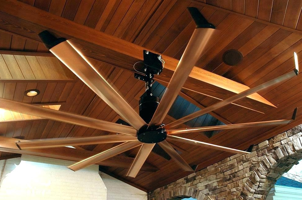 Recent Big Outdoor Ceiling Fans Huge Outdoor Ceiling Fan Ideas Best Big With Regard To Large Outdoor Ceiling Fans With Lights (View 4 of 15)