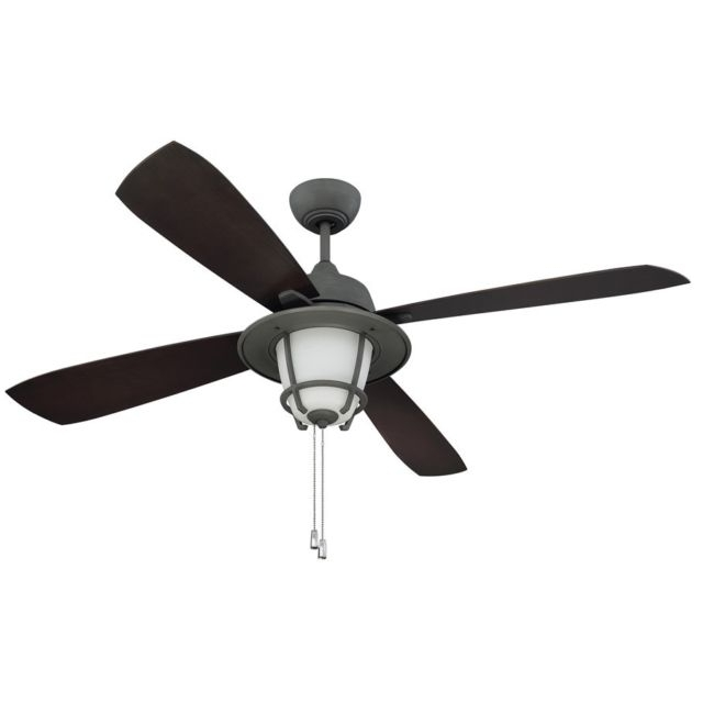 "Recent Ellington Outdoor Ceiling Fans With Regard To Ellington Mr56Agv4C1 Morrow Bay 56"" Outdoor Ceiling Fan In Aged (View 12 of 15)"