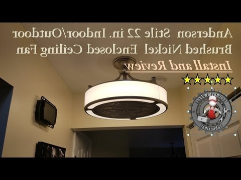 Recent Enclosed Outdoor Ceiling Fans Intended For Stile Anderson 22 In (View 10 of 15)
