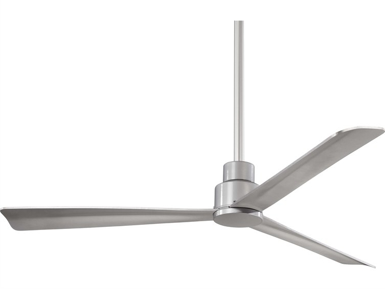Recent Minka Aire Simple Silver 52'' Wide Outdoor Ceiling Fan (View 15 of 15)