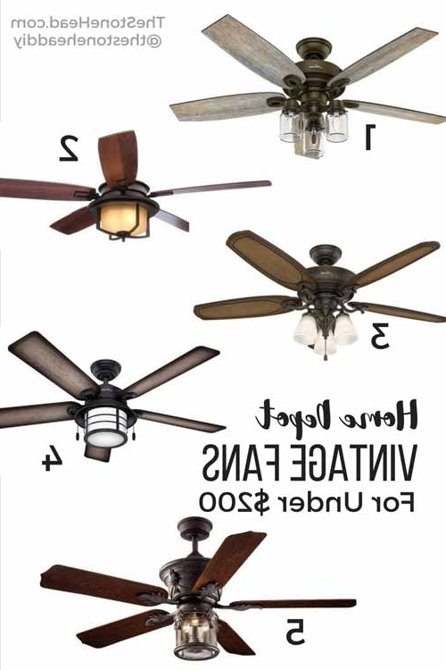 Recent Outdoor Ceiling Fans Under $200 For Vintage Ceiling Fans For Under $200 – The Stone Head (View 13 of 15)