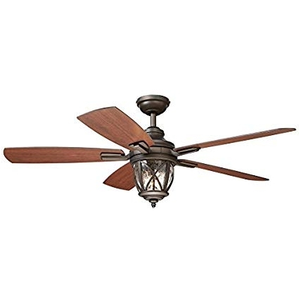 Recent Outdoor Ceiling Fans With Downrod Regarding Castine 52 In Rubbed Bronze Downrod Or Close Mount Indoor/outdoor (View 2 of 15)
