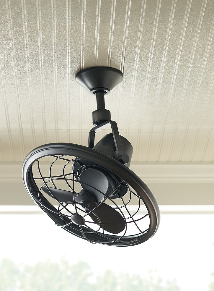 Recent Outdoor Double Oscillating Ceiling Fans With Home Decorators Collection Bentley Ii 18 In (View 14 of 15)