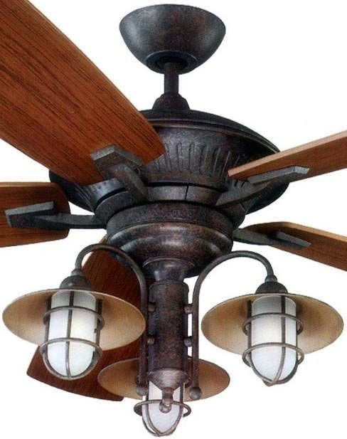 Rustic Ceiling Fans With Lights Intended For Inviting (View 12 of 15)