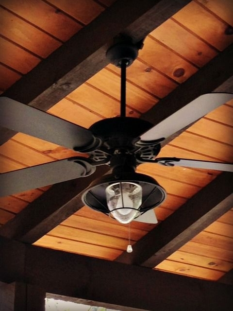 Rustic Outdoor Ceiling Fans With Lights Pertaining To Most Recently Released Dan's Ceiling Fans – A Rich And Rustic Ceiling Fan/light Complements (View 7 of 15)