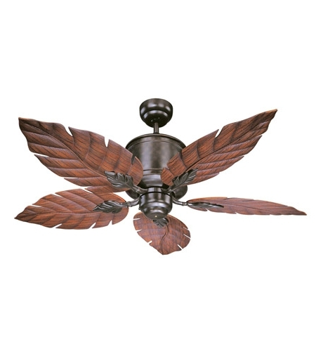 Savoy House 52 083 5Ro 13 Portico 52 Inch English Bronze With Regarding Best And Newest Outdoor Ceiling Fans With Leaf Blades (View 13 of 15)