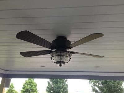 Shop Harbor Breeze Merrimack 52 In Antique Bronze Downrod Or Flush Inside Widely Used Outdoor Ceiling Fans With Long Downrod (View 13 of 15)