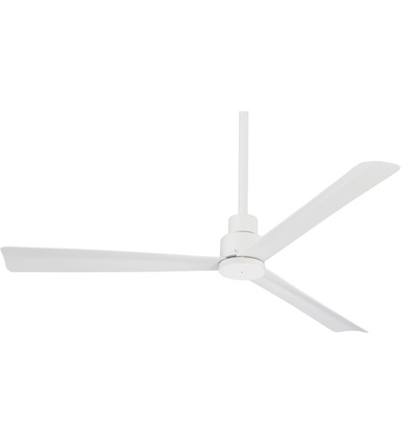 Simple 52 Inch Flat White Outdoor Ceiling Fan With 2017 White Outdoor Ceiling Fans (View 8 of 15)