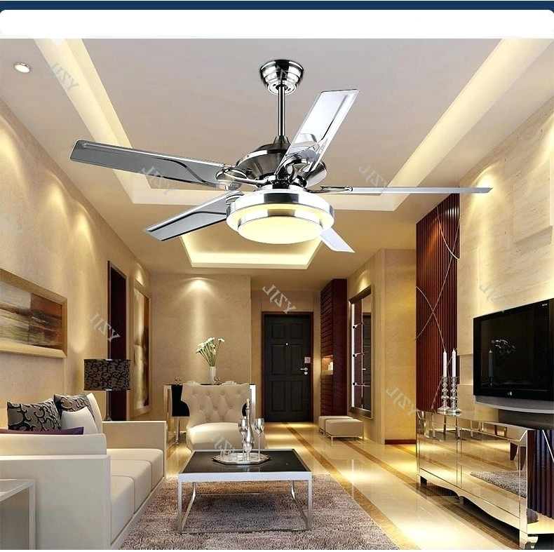 Stainless Steel Outdoor Ceiling Fan Led Modern Minimalist Lamp Fan With Most Current Stainless Steel Outdoor Ceiling Fans With Light (View 7 of 15)