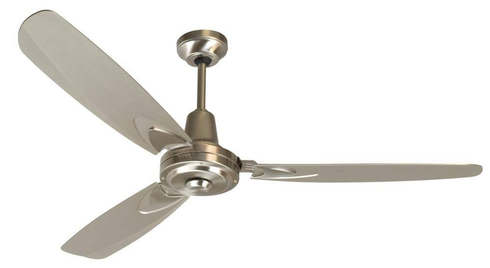 Stainless Steel Outdoor Ceiling Fans Regarding Famous Craftmade 3 Blade Ceiling Fan Without Light Ve58Bnk3 Velocity (View 10 of 15)