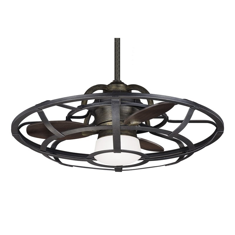 """Trendy 26"""" Wilburton 3 Blade Outdoor Ceiling Fan With Remote & Reviews Regarding Outdoor Ceiling Fans With Dimmable Light (View 12 of 15)"""